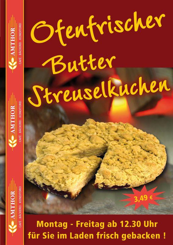 Ofenfrischer Butter Streuselkuchen